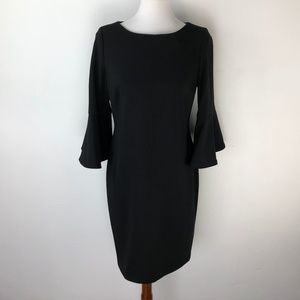 Calvin Klein 12 Petite Black Dress Bell Sleeve